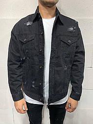 😜 Джинсовка - Мужская джинсовая куртка (черная)