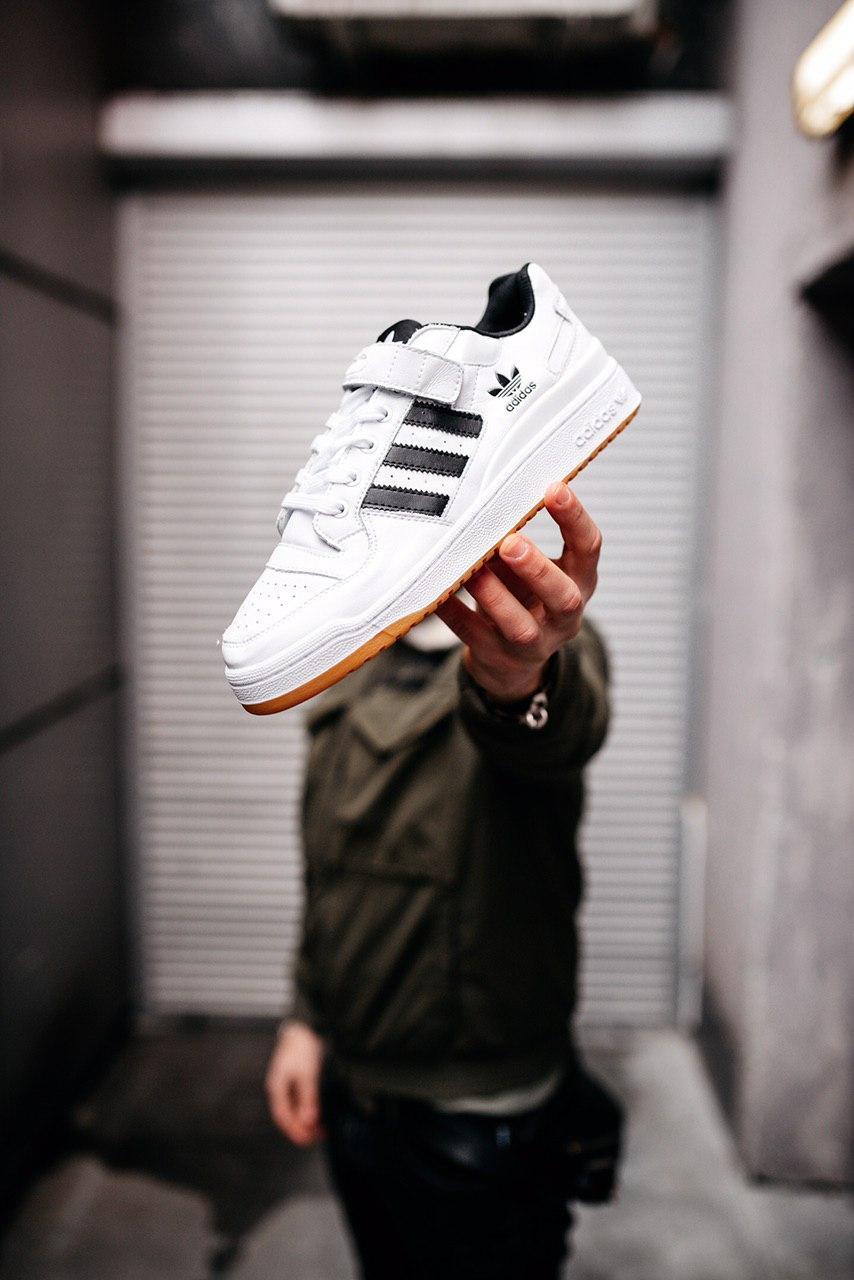 Кроссовки женские Adidas Forum Lo White Black Gold