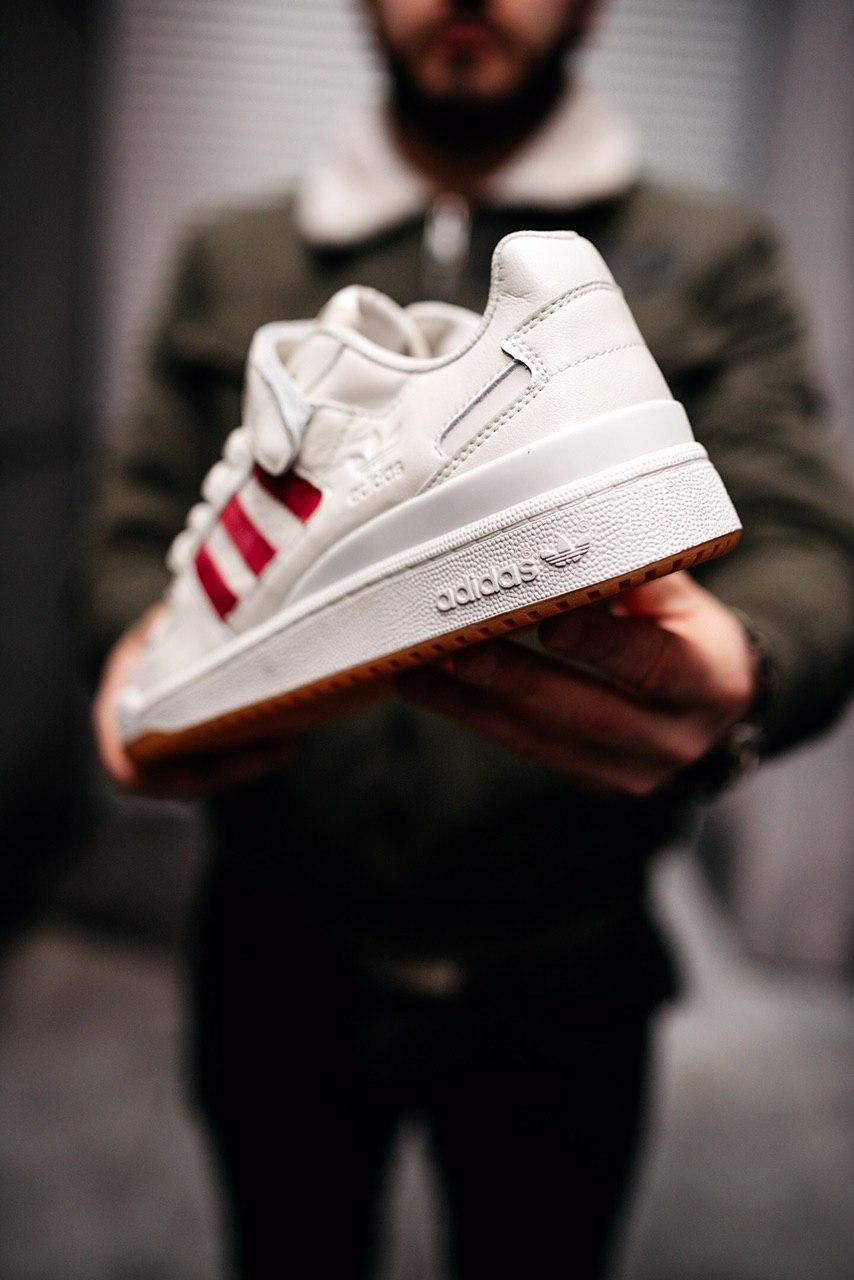 Кроссовки женские Adidas Forum Low White Power Red