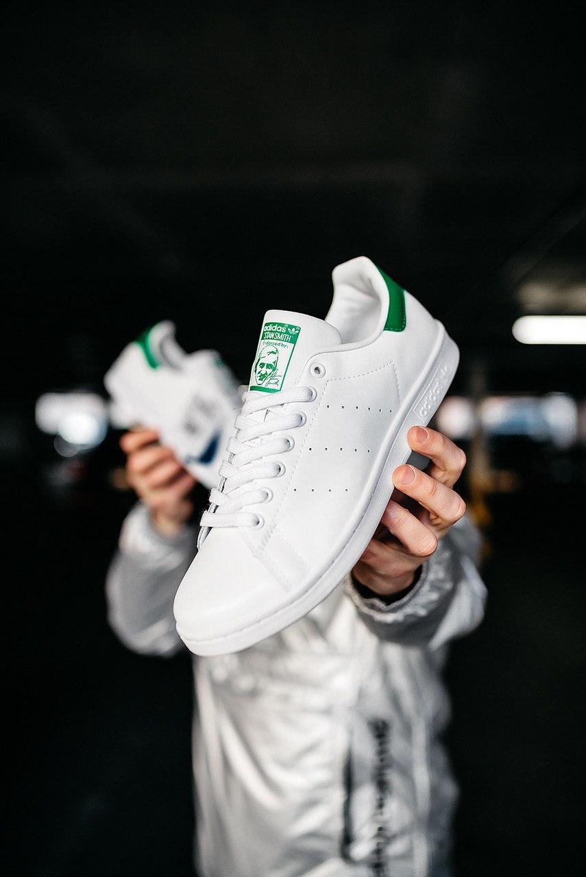 Кроссовки женские Adidas Stan Smith White Green (W)