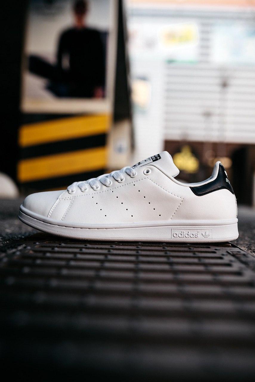 Кроссовки женские Adidas Stan Smith Core White New Navy
