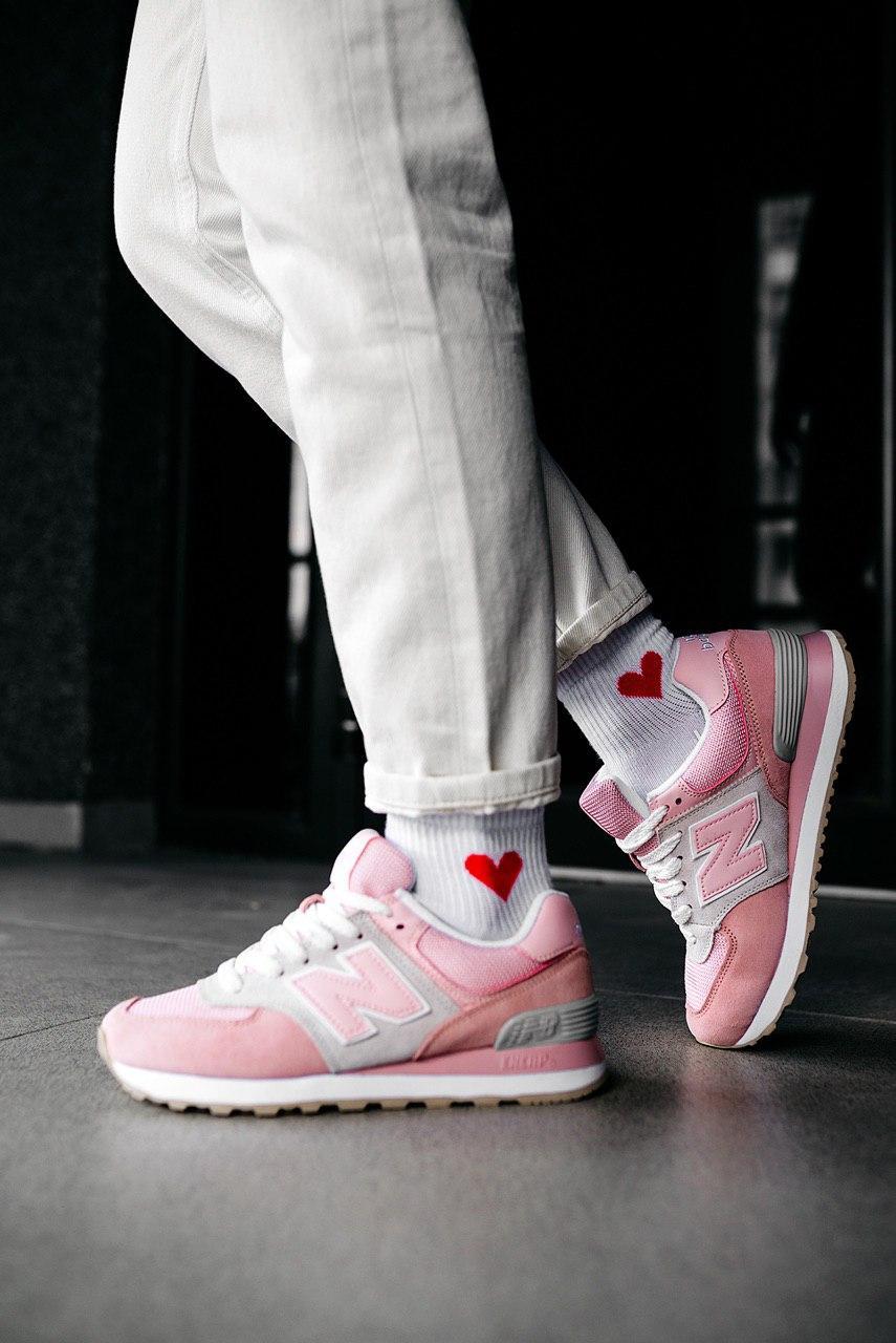 Кроссовки женские New Balance 574 Pink Olive