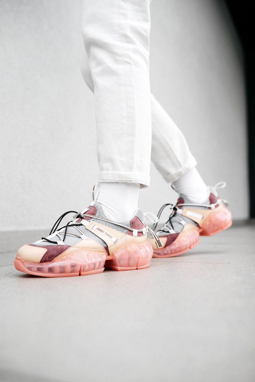Кроссовки женские Jimmy Choo Pink