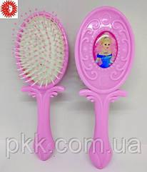 Расчёска для волос La Rosa Принцесса детская массажная розовая LR-1172