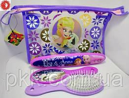 Набор детский LaRosa расчёска зеркало футляр для зубной щетки 7040 LR