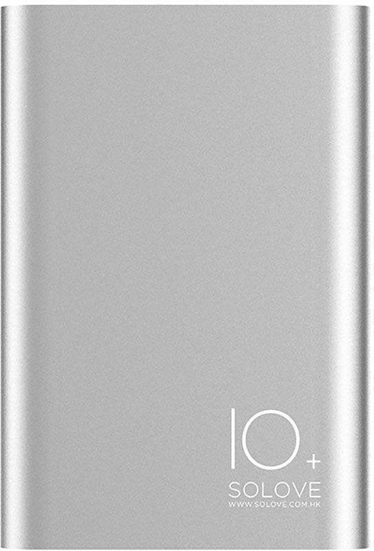 Портативная батарея Solove A9s Portable Metallic Power Bank 10000mAh Silver #I/S