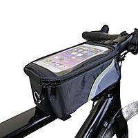 """Велосипедная сумка на раму под смартфон 6.0"""""""