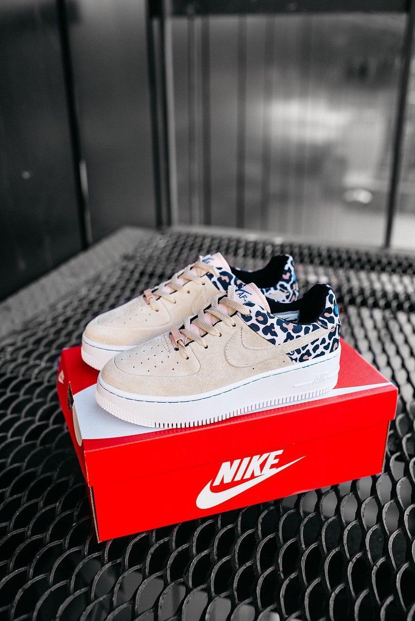 Кроссовки женские Nike Air Force 1 Sage Low Premium Leopard