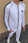 😜 Спортивный костюм -Стильный мужской спортивный костюм Adidas (белый), фото 3