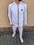 😜 Спортивный костюм -Стильный мужской спортивный костюм Adidas (белый), фото 2