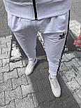 😜 Спортивный костюм -Стильный мужской спортивный костюм Adidas (белый), фото 5