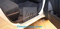 Защитные хром накладки на пороги Chery Kimo (чери кимо 2007+)