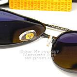 Чоловічі сонцезахисні окуляри Emporio Armani Polarized Aviator оправа металева Армані люкс репліка, фото 4