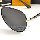 Солнцезащитные очки Emporio Armani Авиаторы с поляризацией для водителей Поляризационные Armani реплика, фото 2