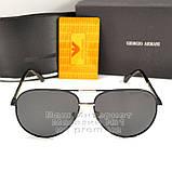 Солнцезащитные очки Emporio Armani Авиаторы с поляризацией для водителей Поляризационные Armani реплика, фото 7