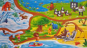 """Дитячий ігровий килимок """"Мадагаскар"""" 2000х1200х12мм. Розвиваючий килимок теплоізоляційний для дітей"""
