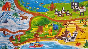 """Великий дитячий килимок """"Магадаскар"""" 3000х1200х8мм, теплоізоляційний, розвиваючий ігровий килимок для дітей"""
