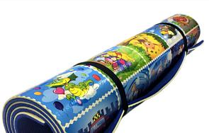 """Теплоізоляційний дитячий килимок 1900х960х12мм """"Кадри з мультфільмів"""". Розвиваючий ігровий килимок для дітей"""