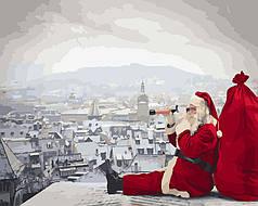 Картина по номерам - Санта не дремлет