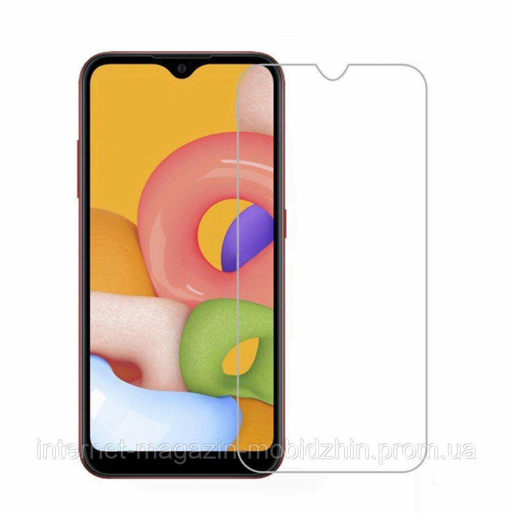 Защитное стекло Samsung A015 Galaxy A01 черное 4D, на весь экран, полная поклейка