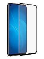 Защитное стекло 4D Huawei P40 Lite , черное, на весь экран всей поверхностью