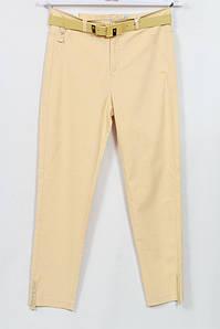 Турецкие женские летние желтые брюки со стразами, размеры 48-64
