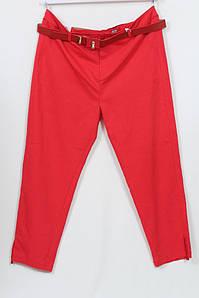 Турецкие женские летние красные брюки со стразами, размеры 48-64
