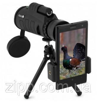 Ударостійкий компактний монокуляр з триногою і кліпсою для смартфона Panda Vision PRO 40x60 Монокуляр