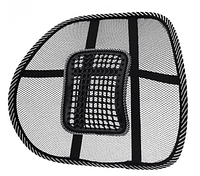 Упор поясничный для спины на стул UFT массажная корректирующая подставка-подушка Чёрная, фото 1