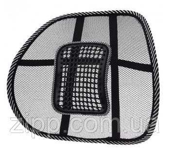 Поперековий Упор для спини на стілець UFT масажна коригуюча підставка-подушка Чорна