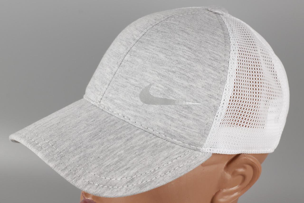 Кепка бейсболка стиль Nike светло-серая Размер 60 +/-
