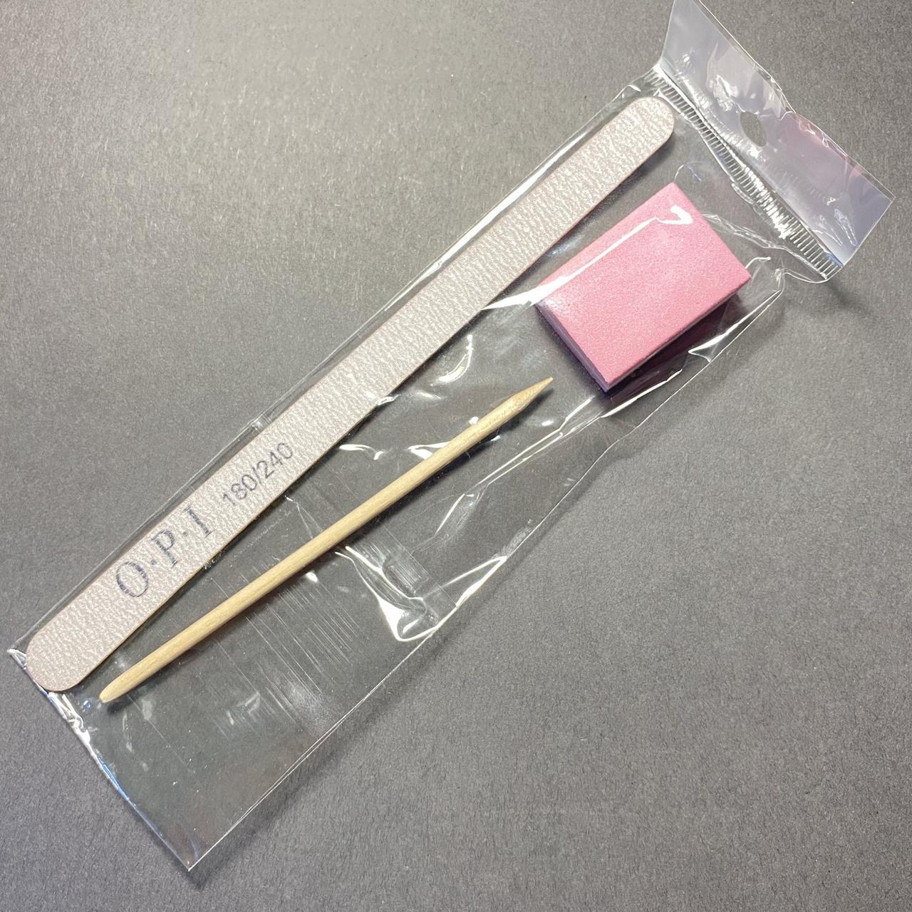 Индивидуальный набор для маникюра (пилочка 180/240, баф, апельсиновая палочка)