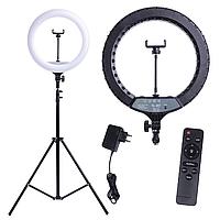 Кольцевая лампа YQ-320A с пультом (диаметр 32см.) с держателем для телефона+стойка штатив (160см.)