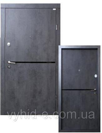 Двери входные ФОРТ. Стандарт Лита black (квартира)