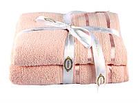 Набор махровых полотенекц HOBBY 50х90х2 хлопок ПИ310698