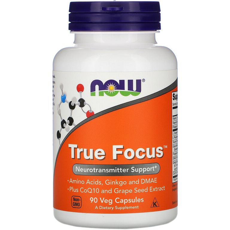 """Комплекс для концентрации внимания NOW Foods """"True Focus"""" нейромедиатор (90 капсул)"""