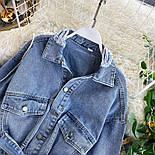 Коротка жіноча джинсова куртка на зав'язці 4801301, фото 3