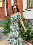 Принтована сукня з вільним верхи, широким коротким рукавом і довжиною нижче колін 65031347, фото 2