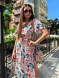 Принтована сукня з вільним верхи, широким коротким рукавом і довжиною нижче колін 65031347, фото 3