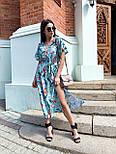 Принтована сукня з вільним верхи, широким коротким рукавом і довжиною нижче колін 65031347, фото 5