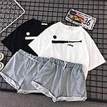 Жіночий літній костюм з футболкою і шортами з подворотами 6810893, фото 2