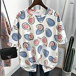 Женская широкая летняя футболка с рисунком авокадо 7717333, фото 3