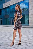 Летнее платье на запах из льна  из льна  цвет: черный, размер: S, M, L, XL