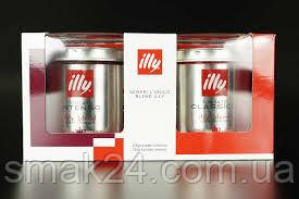 Кава мелена Illy Tostato classic 125g + Tostato intenso 125g Італія
