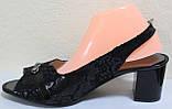 Босоножки женские экокожа на каблуке большие размеры от производителя модель МИ5125-4, фото 3