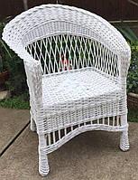Кресло плетеное детское  | кресло из лозы белое | кресло из лозы  для детей, фото 1