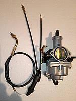 Карбюратор PZ30+ трос подвійною, з прискорювальних насосом . Ручний дросель. Для МТ, ДНІПРО, УРАЛ.