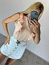 Летняя женская блуза без рукава с воланами 16ru368, фото 3