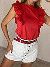 Летняя женская блуза без рукава с воланами 16ru368, фото 4