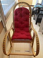 Кресло качалка из лозы | кресло-качалка с подушкой  | качалка снакидкой на подарок